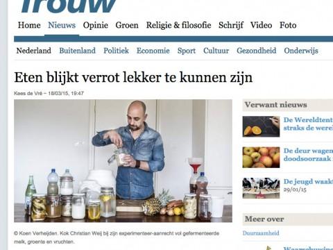 Artikel over Verrot lekker in de Trouw